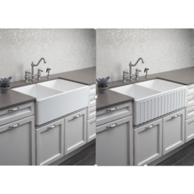 Novi 84 Double Sided Flat Ribbed Front Butler Sink